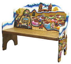 painted mexican furnitureColorful Carved Furniture from Mexico
