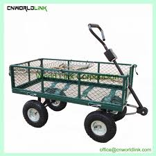 300kgs folding heavy duty antique green garden cart iron wagon