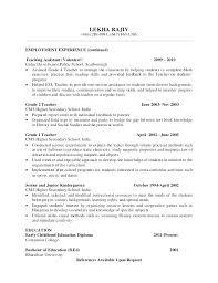 Kindergarten Assistant Cover Letter Resume Teacher Assistant Teacher