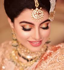 orange golden bridal eye makeup with lips