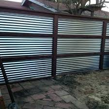 metal fence designs. Brilliant Fence Sheet Metal Fence Designs Corrugated Steel  Best Ideas Intended Metal Fence Designs D