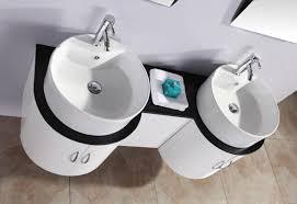 Mobile bagno tower 150 cm con doppio lavabo e specchio