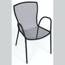 outdoor metal chair. White Mesh Outdoor Chairs Backed Metal Chair Dining .