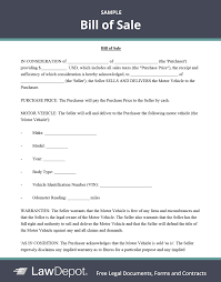 How to write your own vehicle purchase agreement. Bill Of Sale Form Free Bill Of Sale Template Us Lawdepot