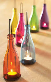 Decorative Colored Glass Bottles Dishfunctional Designs Glass Bottles Upcycled Repurposed As 66