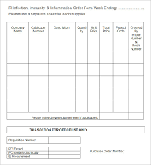 Blank Work Order Forms Templates Excel Spreadsheet Order Form Template Work Orders Free Work Order