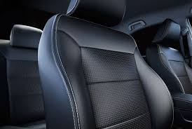 black upholstery interior