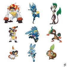 Gen 8 starter Pokémon type swap redesigned by me!: pokemon
