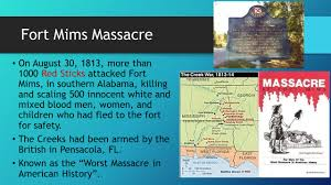 Image result for Fort Mims massacre