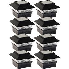 4x4 Solar Deck Post Lights Details About New Black Solar Outdoor Garden Deck Patio 4x4 Pvc Fence Led Post Light 8 Pack