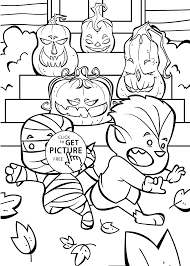 Small Picture Funny Jack o lanterns coloring page for kids printable free