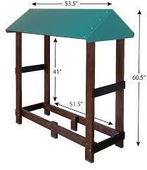 firewood shelter dry storage promotes seasoning of