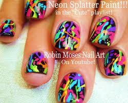 Cute and Fun Nails! | DIY Rainbow Paint Splatter Design! Easy ...