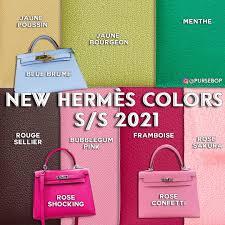 <b>New</b> Hermès <b>Leather</b> Colors for S/S <b>2021</b> - PurseBop