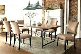 oak dining table chairs furniture um images of rustic with c casters room roundup upholstered