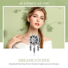BAMOER Genuine <b>925 Sterling Silver Beautiful</b> Dream Catcher ...