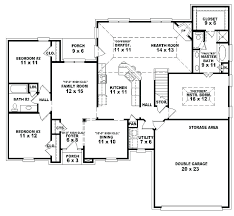 1 story house plans. 3 Bedroom 1 Bath House Plans One Roomed Single Story Open Floor 2 French Bed A