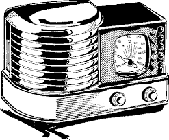 radio clipart black and white. old-radio2. « » radio clipart black and white