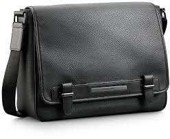 calvin klein peter faux leather messenger bag