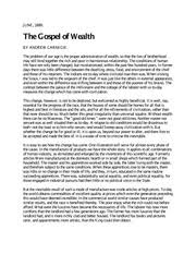 andrew carnegie essay gospel of wealth essay andrew carnegies  8 pages gospel of wealth quiz reading 3