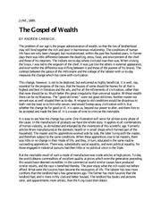 andrew carnegie essay gospel of wealth essay andrew carnegies  8 pages gospel of wealth quiz reading 3
