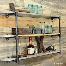 Pipe Furniture Rustic Vintage Mount Bracket Set Industrial Diy Pipe Shelf