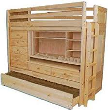 Build Your Own ALL IN ONE Loft Bunk Bed With TRUNDLE, Desk, CHEST,