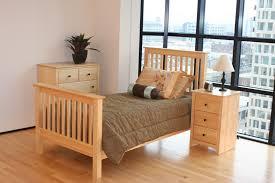 Solid Pine Bedroom Furniture Solid Wood Bed Frame Single Bedding Bed Linen