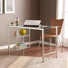 office glass desks. Clay Alder Home Liberty Chrome/ Glass Desk - Free Shipping Today Overstock.com 17681780 Office Desks N