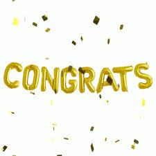 Congrats Congratulations Gif Congrats Congratulations Goldconfetti Discover Share Gifs