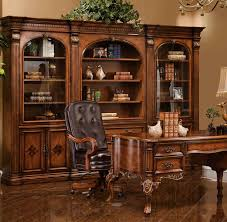 office wall furniture. Melville Wall Unit / Book Case Shown In Antique Cognac Finish Office Furniture A