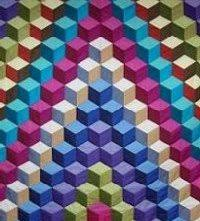 Tumbling block quilt pattern free with quilt instructions & Illusion of the tumbling block quilt Adamdwight.com