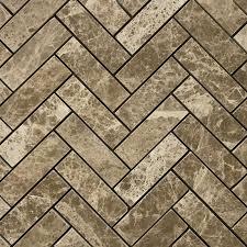 Light Emperador Marble 1 x 3 herringbone mosaic tile emperador light marble polished 8978 by uwakikaiketsu.us
