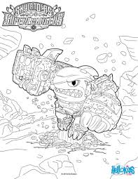 Terrafin Coloring Page From Skylanders Superchargers