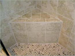 shower bench seat built in stone corner and pebble tile floor seats shower bench