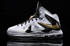 lebron white and gold. another look at nike lebron x ps elite in white gold and black lebron t