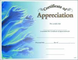 Certificates Of Appreciation Photo Certificate Of Appreciation Fill In The Blank Certificates