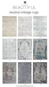 neutral vintage area rugs are an easy way to add color texture and pattern to