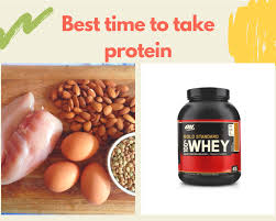 drink protein shake before