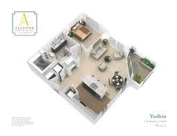 yadkin one bedroom floorplan