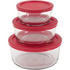 glass storage dishes with lids designs