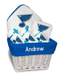 personalized st louis blues um gift basket