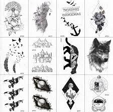 3285 руб Vankirs 3d женский черный временная татуировка декорации для тела рук эскиз