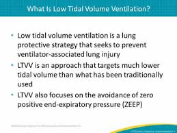 Low Tidal Volume Ventilation Introduction Evidence And