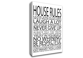 text quotes house rules love each other canvas art on wall art quotes canvas with house rules love each other text quotes canvas stretched canvas