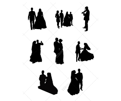 Wedding Silhouettes Vector Pack Vector Graphics For Wedding