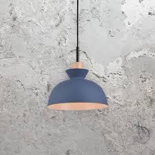 Scandinavian Lighting Uk Blue Scandinavian Pendant Light Cl 37176