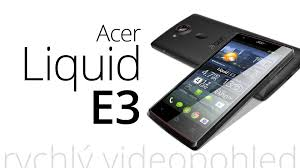 Acer Liquid E3 (rychlý videopohled) - YouTube
