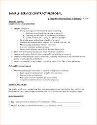 Service Contract Sample Contract Proposal Sample Template Creative Sample Service Contract 22