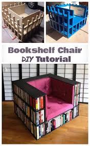 diy bookshelf chair tutorial for book worms